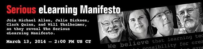Serious e-Learning Manifesto