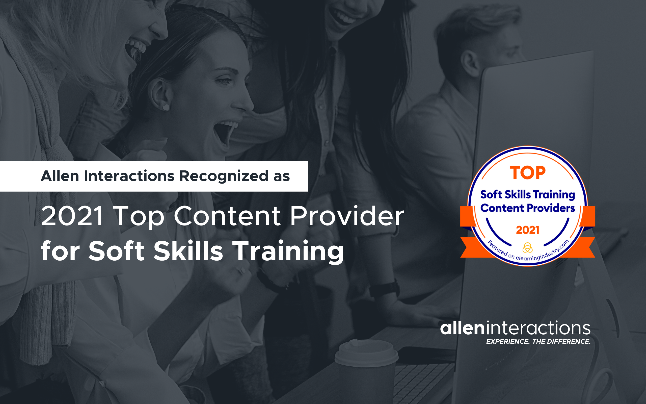 Allen Interactions Recognized by eLearning Industry as a 2021 Top Content Provider for Soft Skills Training