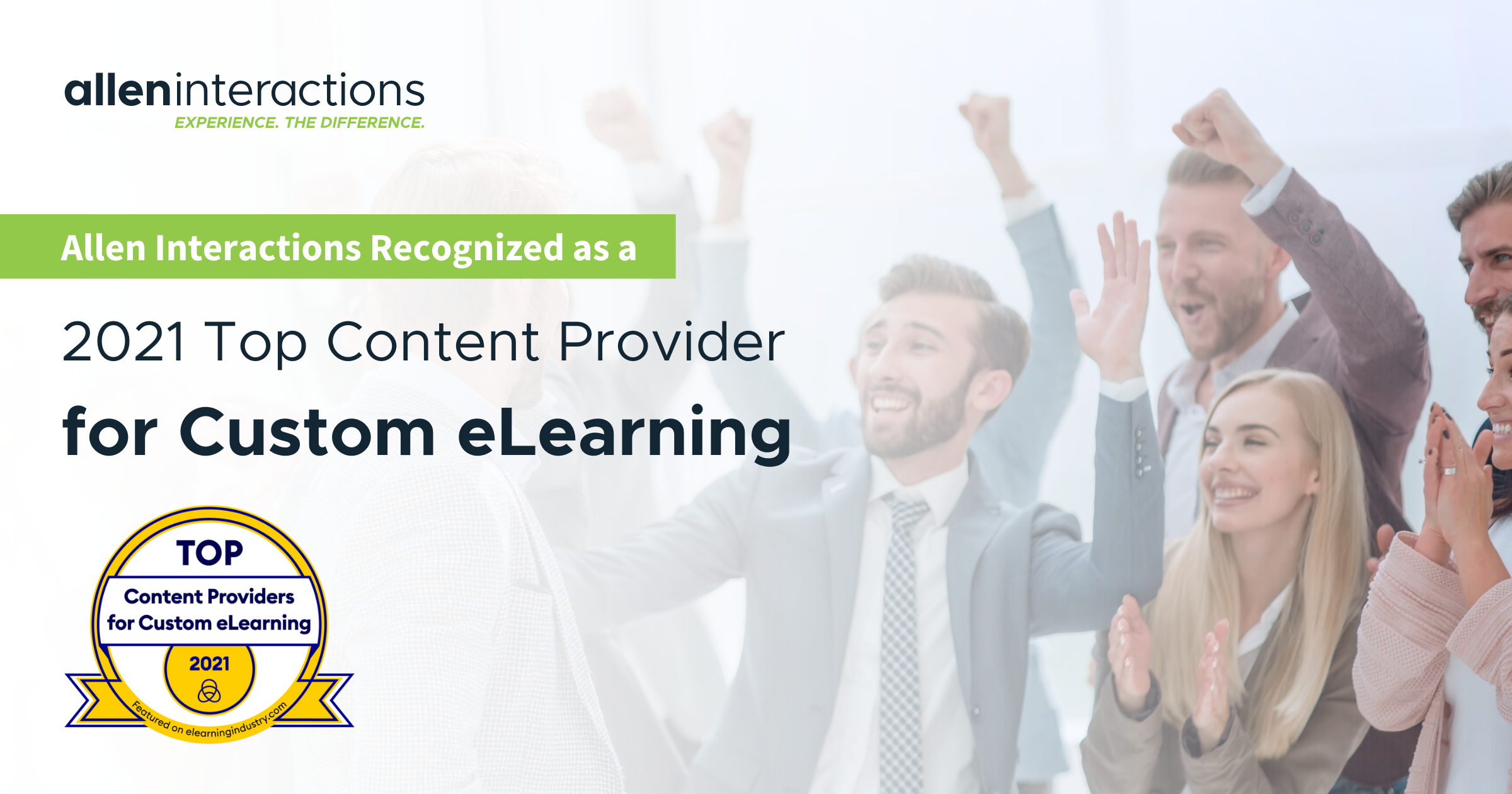 Allen Interactions Recognized by eLearning Industry as a 2021 Top Content Provider For Custom eLearning