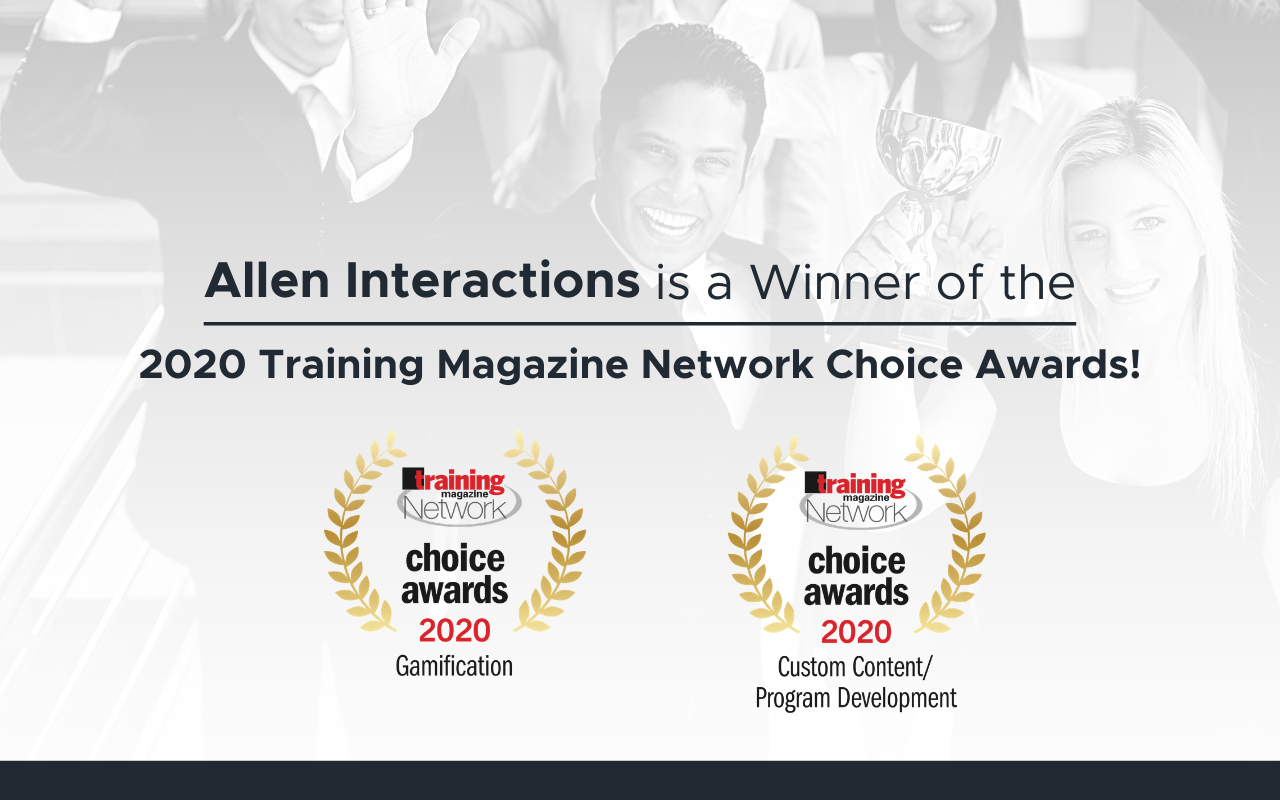 Allen Interactions is a Winner of the 2020 Training Magazine Network Choice Awards!
